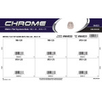 Chrome Metric Flat-Top Acorn Nuts Assortment (M6-1.00 thru M12-1.75)