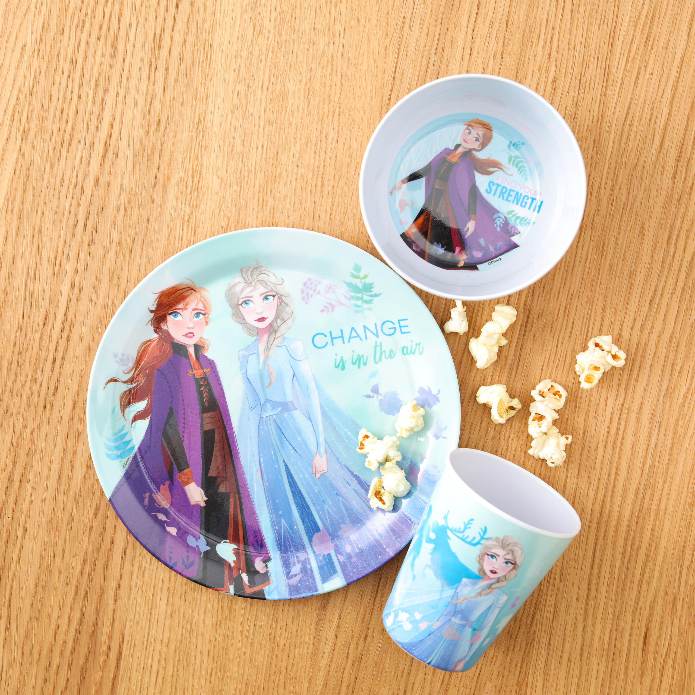Disney Kid's Dinnerware Set, Frozen 2 Movie, 3-piece set slideshow image 3