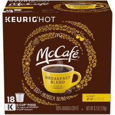 McCafé Breakfast Blend Coffee K-Cup Pods, 18 count