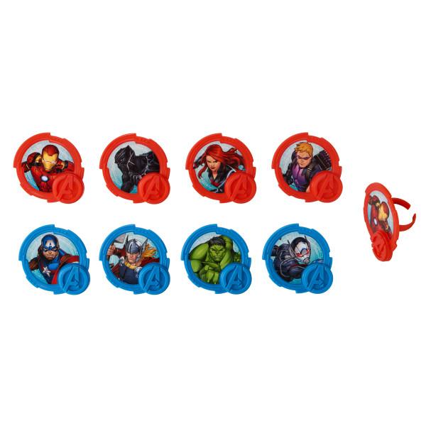 MARVEL Avengers Mightiest Heroes Cupcake Rings