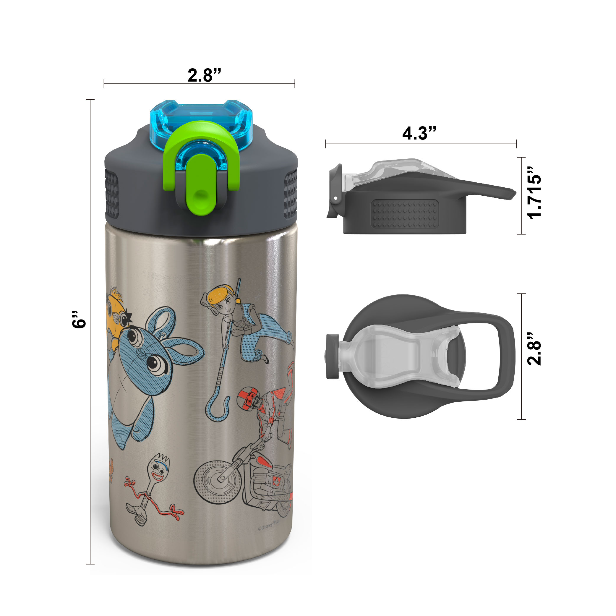 Toy Story 4 Movie 15.5 ounce Water Bottle, Buzz, Woody & Friends slideshow image 6