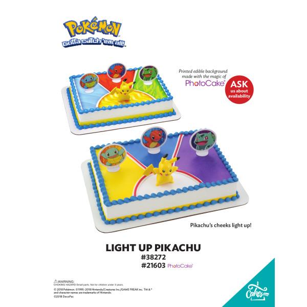 Pokemon™ Light Up Pikachu DecoSet® The Magic of Cakes® Page
