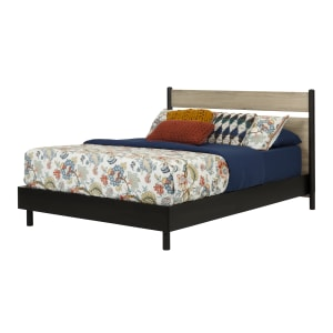 Morice - Mid-Century Modern Platform Bed with Headboard Set