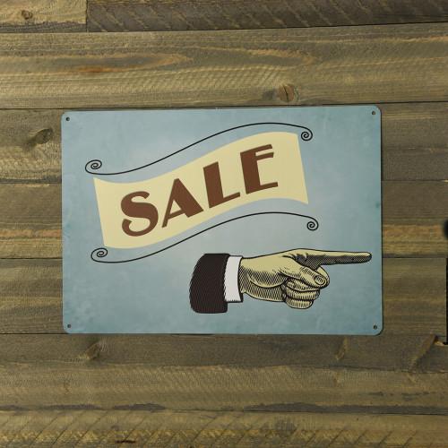 Aluminum Vintage Sale Sign, 10