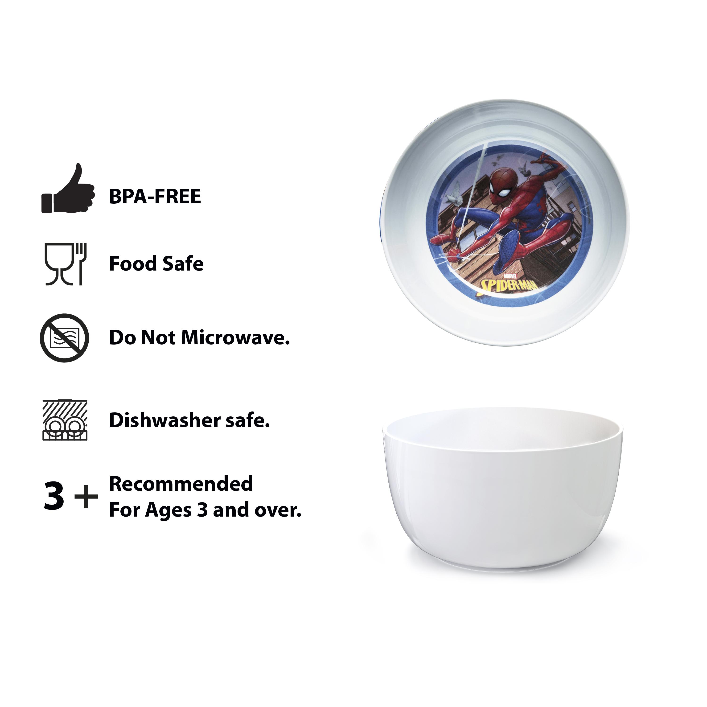 Marvel Kid's Dinnerware Set, Spider-Man, 3-piece set slideshow image 7