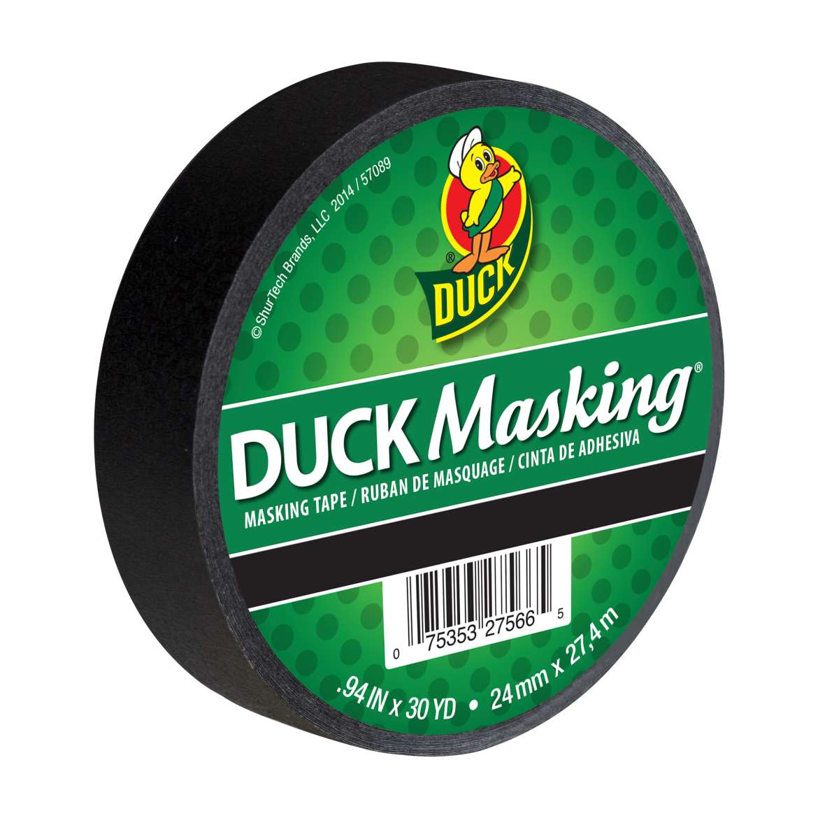 Duck Masking® Color Masking Tape - Black, .94 in. x 30 yd. Image