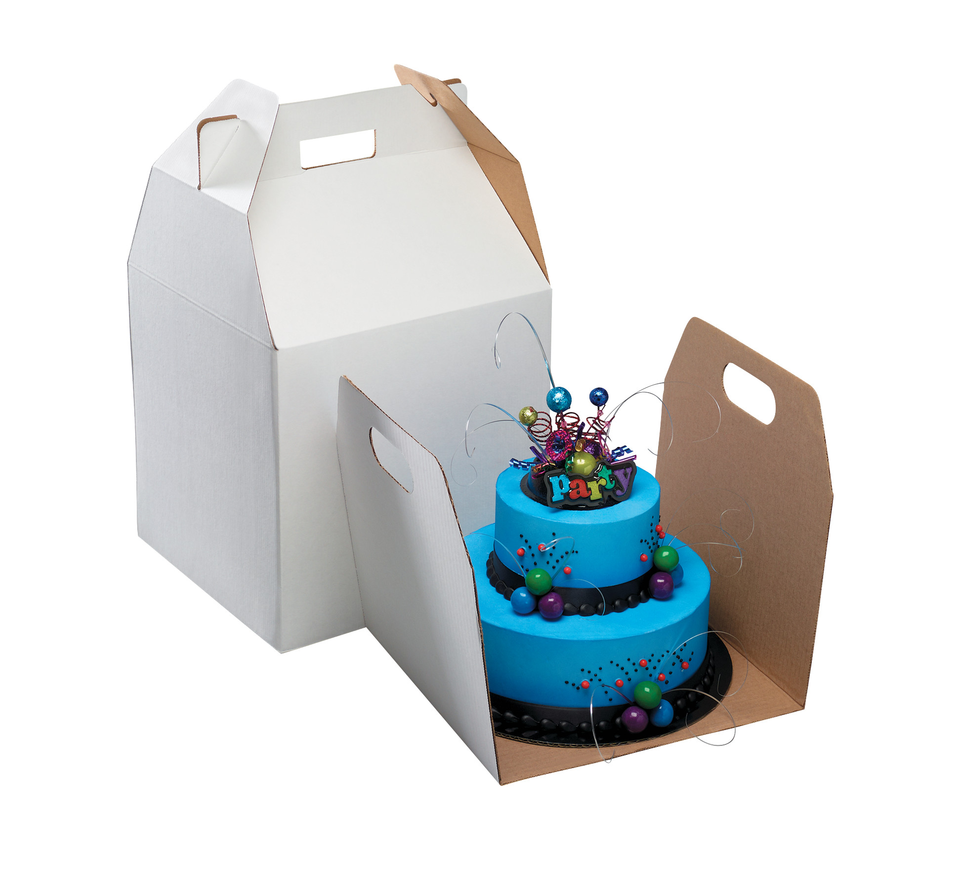 Tall Square With Handle Cake Box Decopac