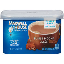Maxwell House International Suisse Mocha Cafe Sugar-Free Coffee, 4.1 oz Canister