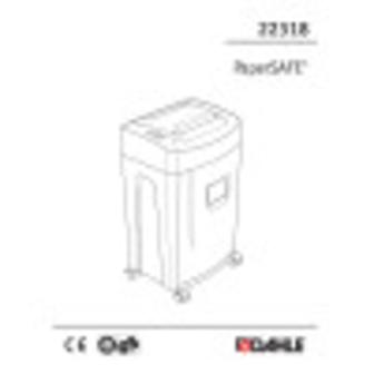 Dahle PaperSAFE® 22318 Shredder User Guide