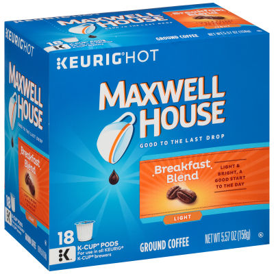 Maxwell House Breakfast Blend Coffee K-Cup Pods 5.57 oz Box