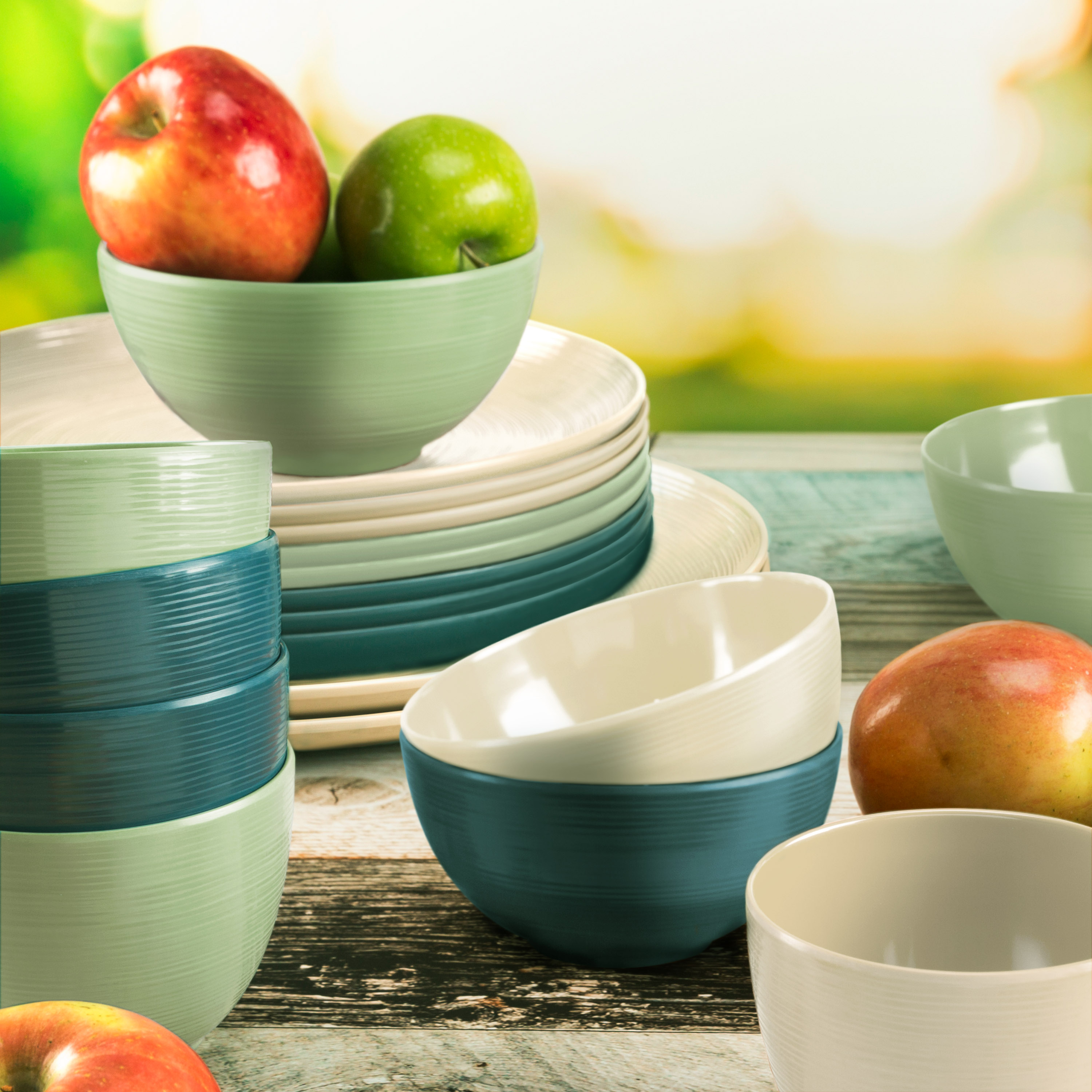 American Conventional Plate & Bowl Sets, Marine, 12-piece set slideshow image 5