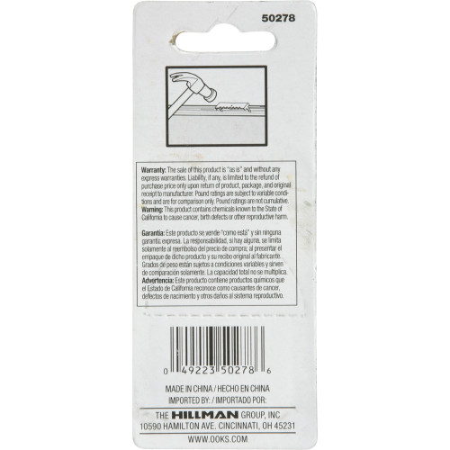 OOK Small Push-In-Self-Leveling Sawtooth Picture Hanger pack of 3