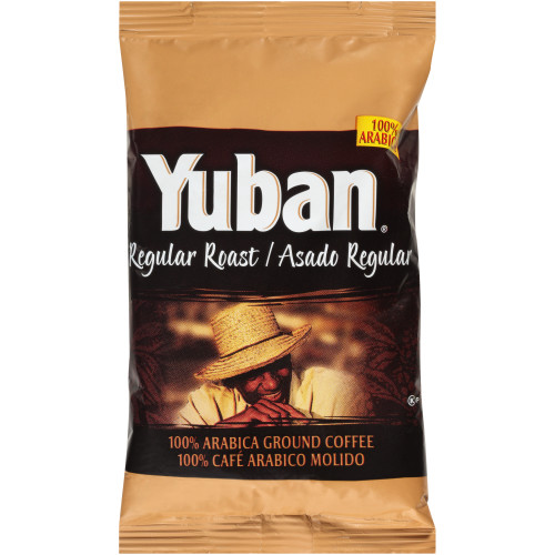 YUBAN Regular Roast & Ground Coffee, 2.5 oz. Bag (Pack of 152)