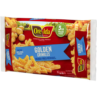 Ore-Ida Golden Crinkles French Fried Potatoes 80 oz Bag