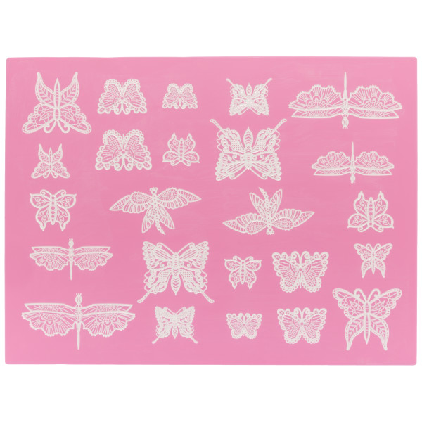 Beautiful Butterflies Cake Lace Silicone Mat Cutters/Molds