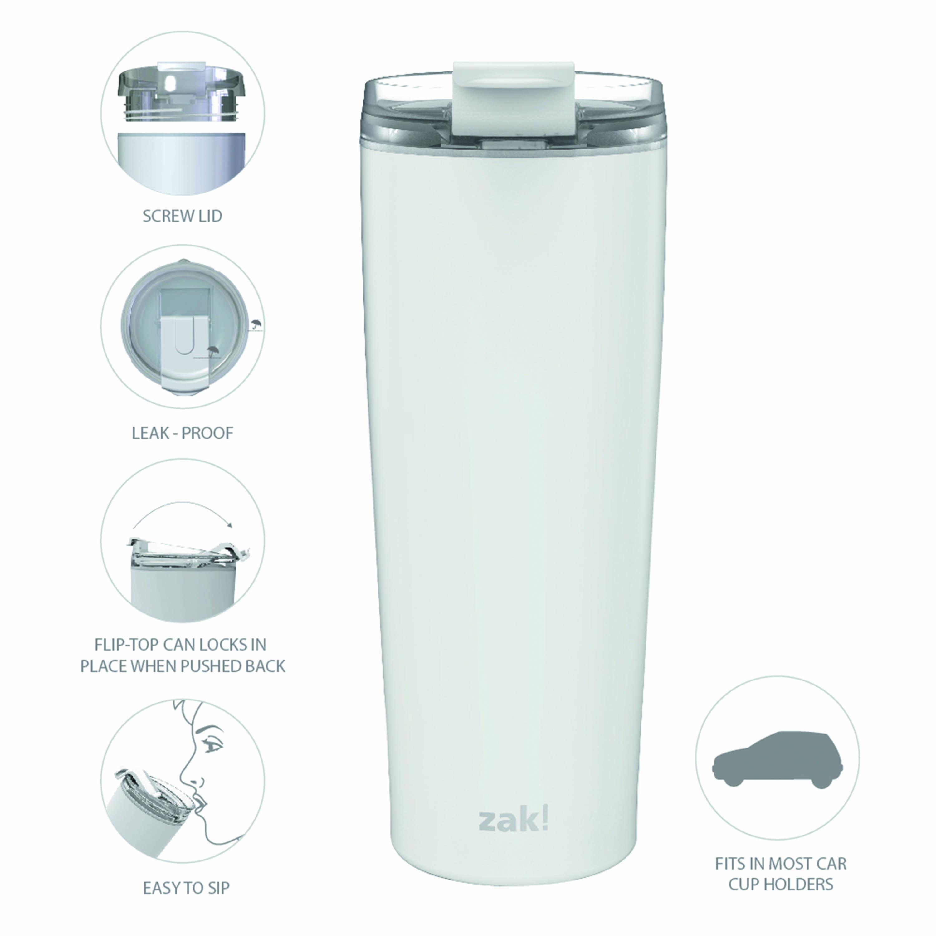 Aberdeen 24 ounce Vacuum Insulated Stainless Steel Tumbler, Green slideshow image 7
