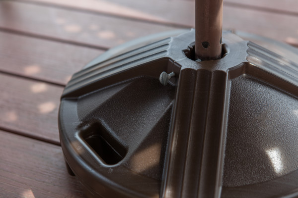 Empty Patio Table Umbrella Base - Bronze 8