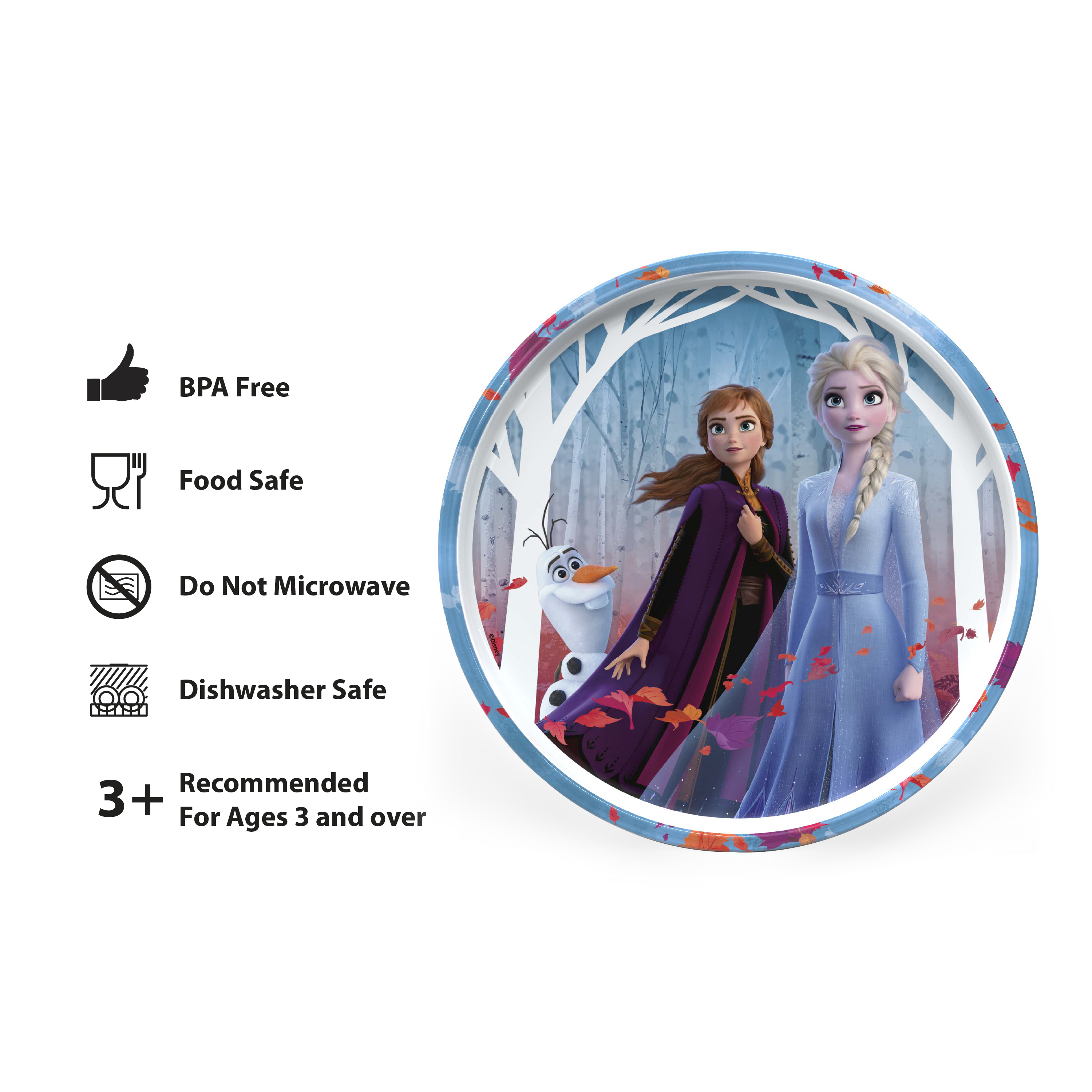 Disney Frozen 2 Movie Dinnerware Set, Anna and Elsa, 5-piece set slideshow image 3