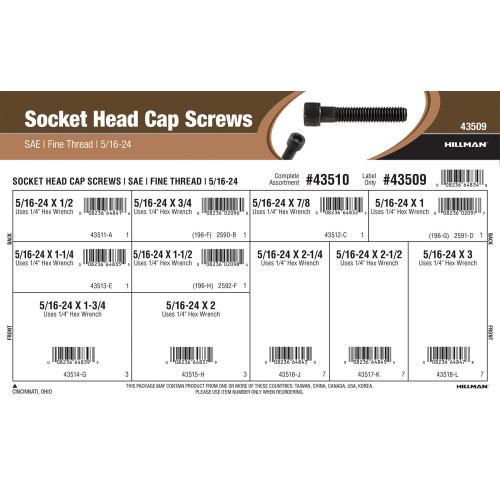 Socket-Head Cap Screws Assortment (5/16