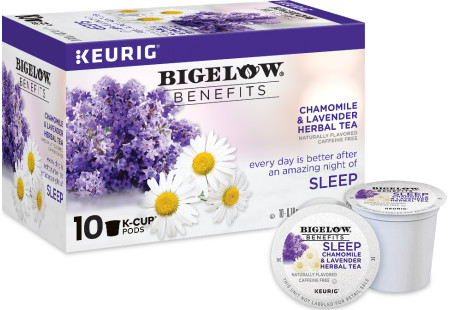 Benefits Chamomile and Lavender Herbal Tea K-Cups - Case of 6 boxes- total of 60 k-cups