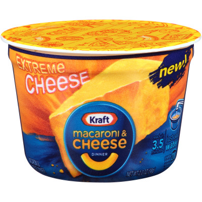 Kraft Easy Mac Extreme Cheese Macaroni & Cheese Dinner 2 oz Tub