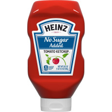 Heinz No Sugar Added Tomato Ketchup, 29.5 oz Squeeze Bottle image