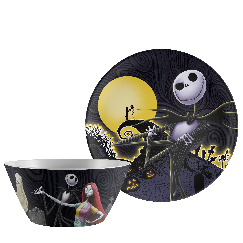 Disney The Nightmare Before Christmas Dinnerware Set, Jack & Sally, 2-piece set slideshow image 2