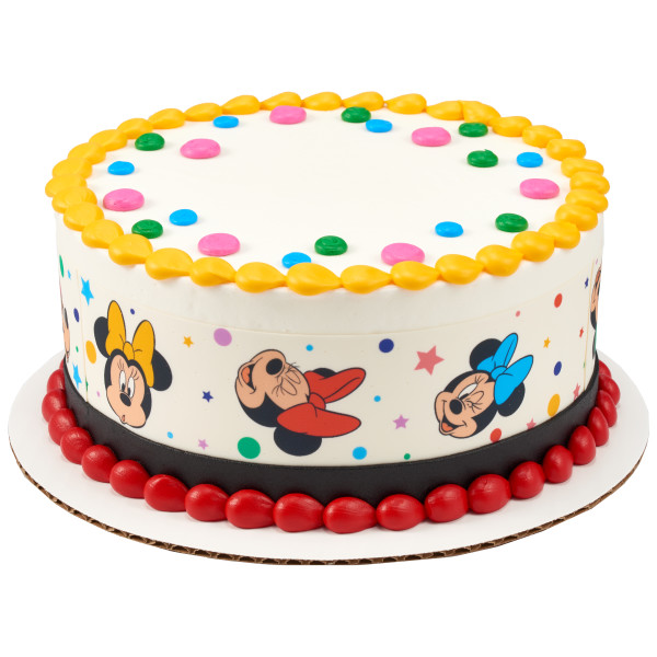 Minnie Mouse Dots and Stars PhotoCake® Edible Image® Strips