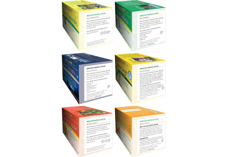 Ingredient panels of Mixed Case of Herbal Teas - 6 boxes