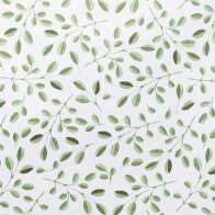 Swatch for EasyLiner® Adhesive Laminate -  Green Leaves, 20 in. x 15 ft.