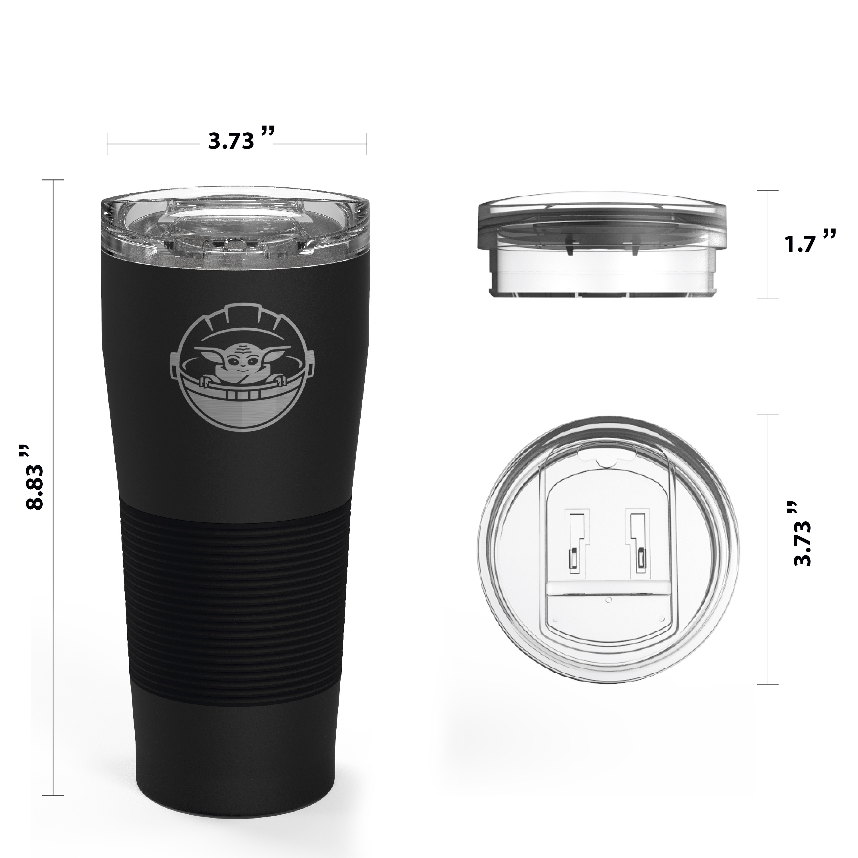 Star Wars: The Mandalorian 28 ounce Vacuum Insulated Stainless Steel Tumbler, The Child slideshow image 7