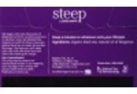 Back of steep by bigelow organic earl grey tea box