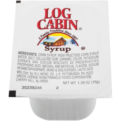 LOG CABIN Single Serve Syrup, 1.39 oz. Cups (Pack of 100)