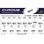 "Chrome Button-Head Socket Cap Screws Assortment (5/16""-24 & 1/2""-20 Thread)"