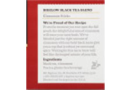 Ingredient panel of Cinnamon Stick tea box