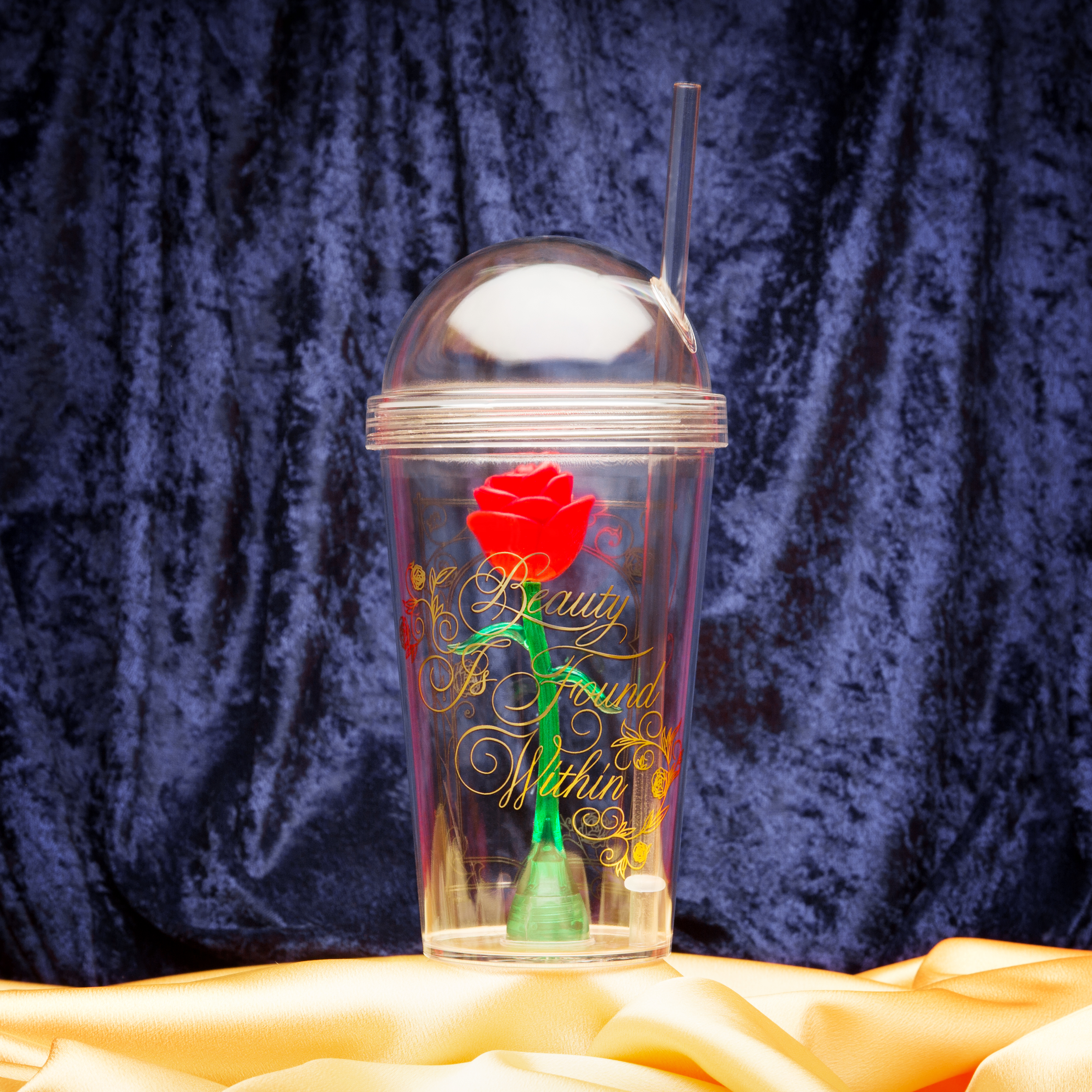 Beauty And The Beast 22 ounce Kid's Tumbler, Enchanted Rose slideshow image 2