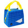 Grid Lock Purse Style Insulated Reusable Lunch Bag, Planes slideshow image 3