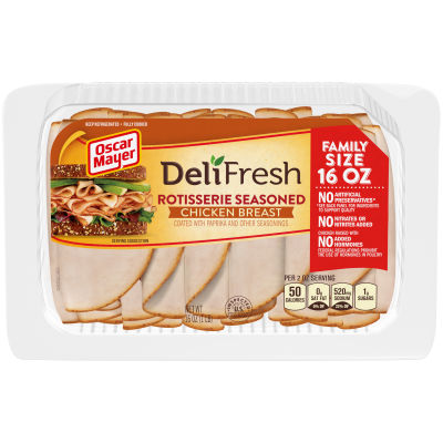 Oscar Mayer Deli Fresh Rotisserie Seasoned Chicken Breast, 16 oz Package