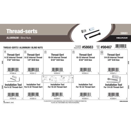 Aluminum Thread-Serts Assortment (Blind Nuts)