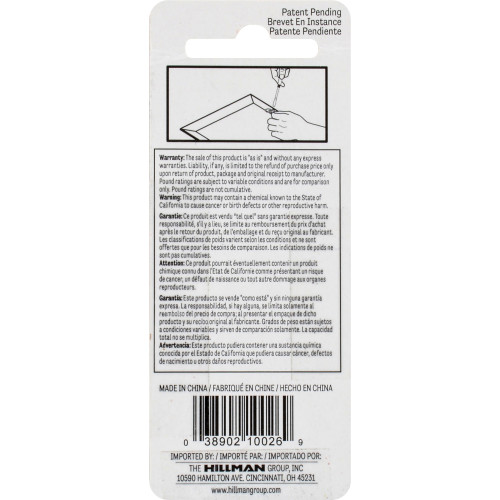 Hillman ReadyScrew Zinc finish Large D-Ring Hangers and Screws