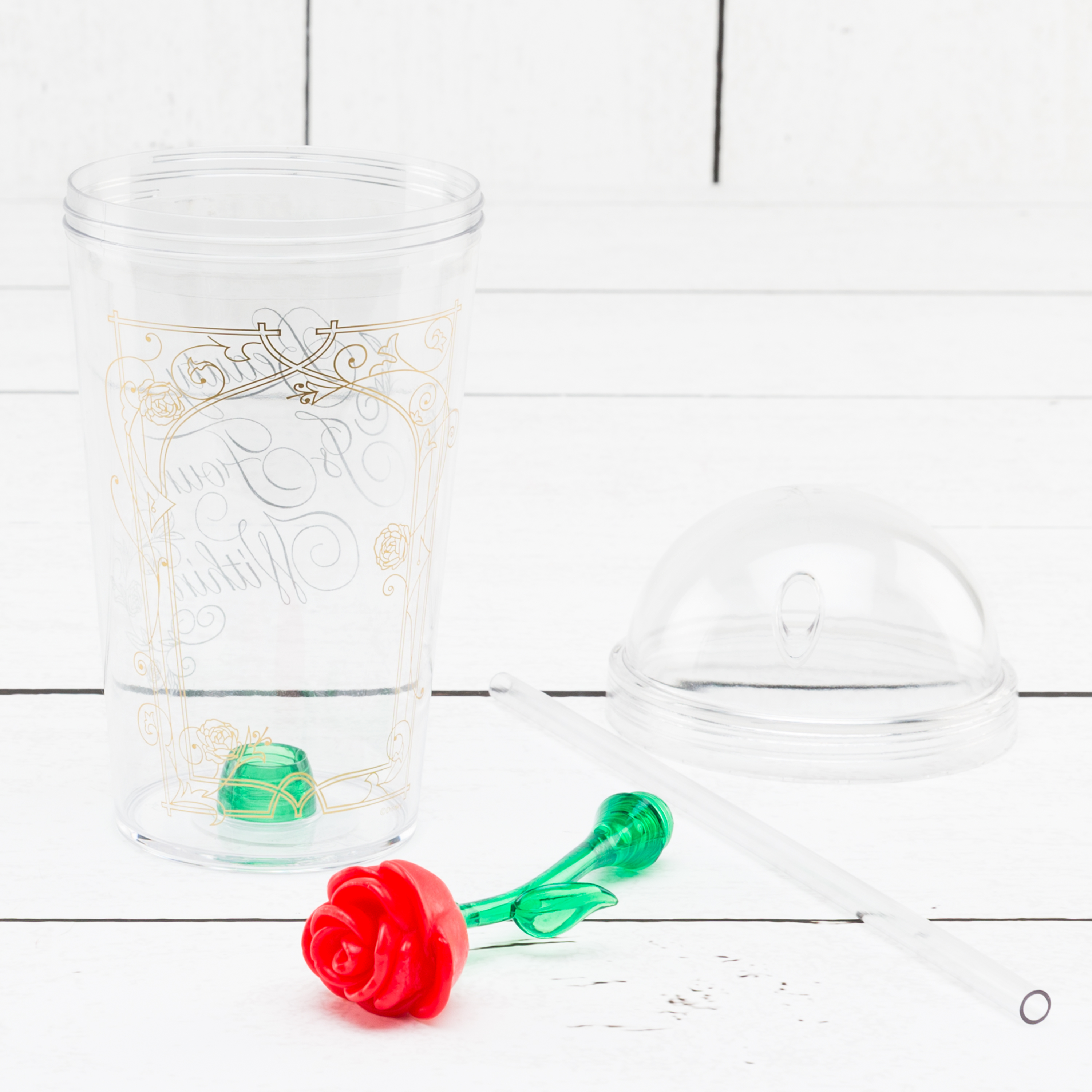 Beauty And The Beast 22 ounce Kid's Tumbler, Enchanted Rose slideshow image 8