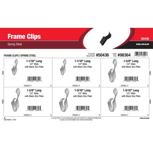 Spring Steel Frame Clips Assortment