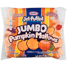 Kraft Jet-Puffed Jumbo Pumpkin Mallows Marshmallows 24 oz Wrapper
