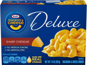 Kraft Dinners Deluxe Sharp Cheddar Macaroni & Cheese Dinner 14 Oz Box image