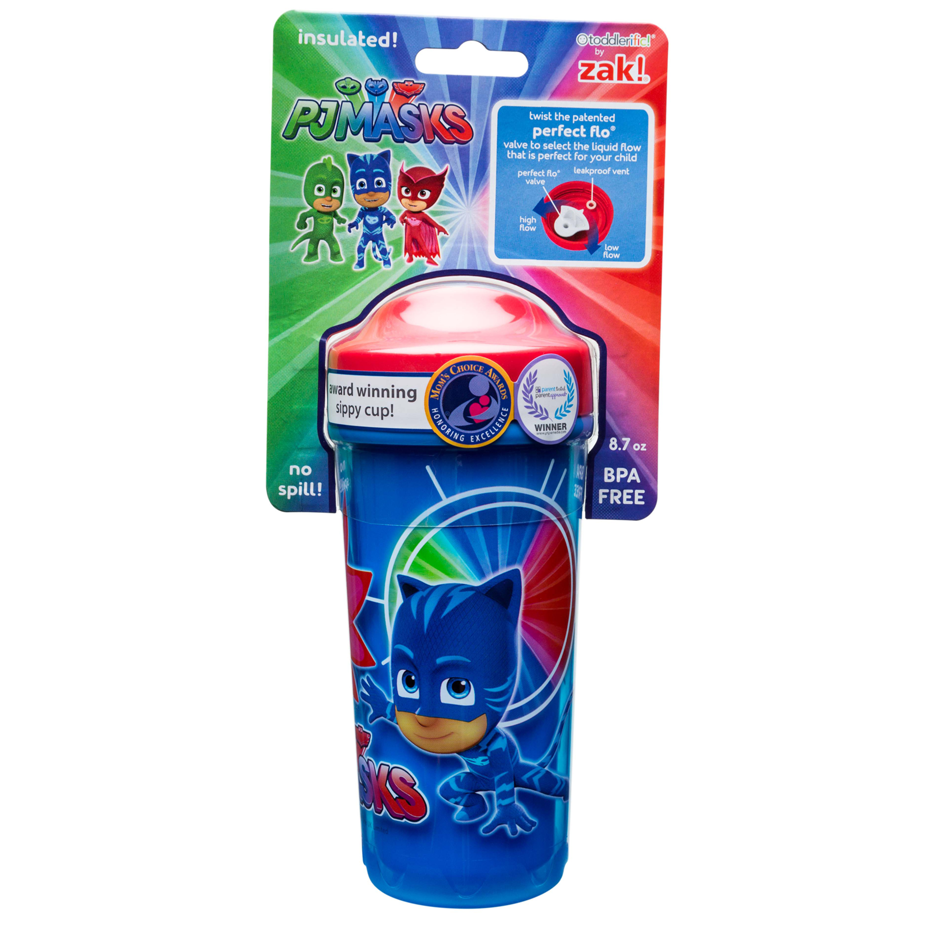 PJ Masks 8.7 ounce Sippy Cup, Catboy, Owlette & Gekko, 2-piece set slideshow image 5