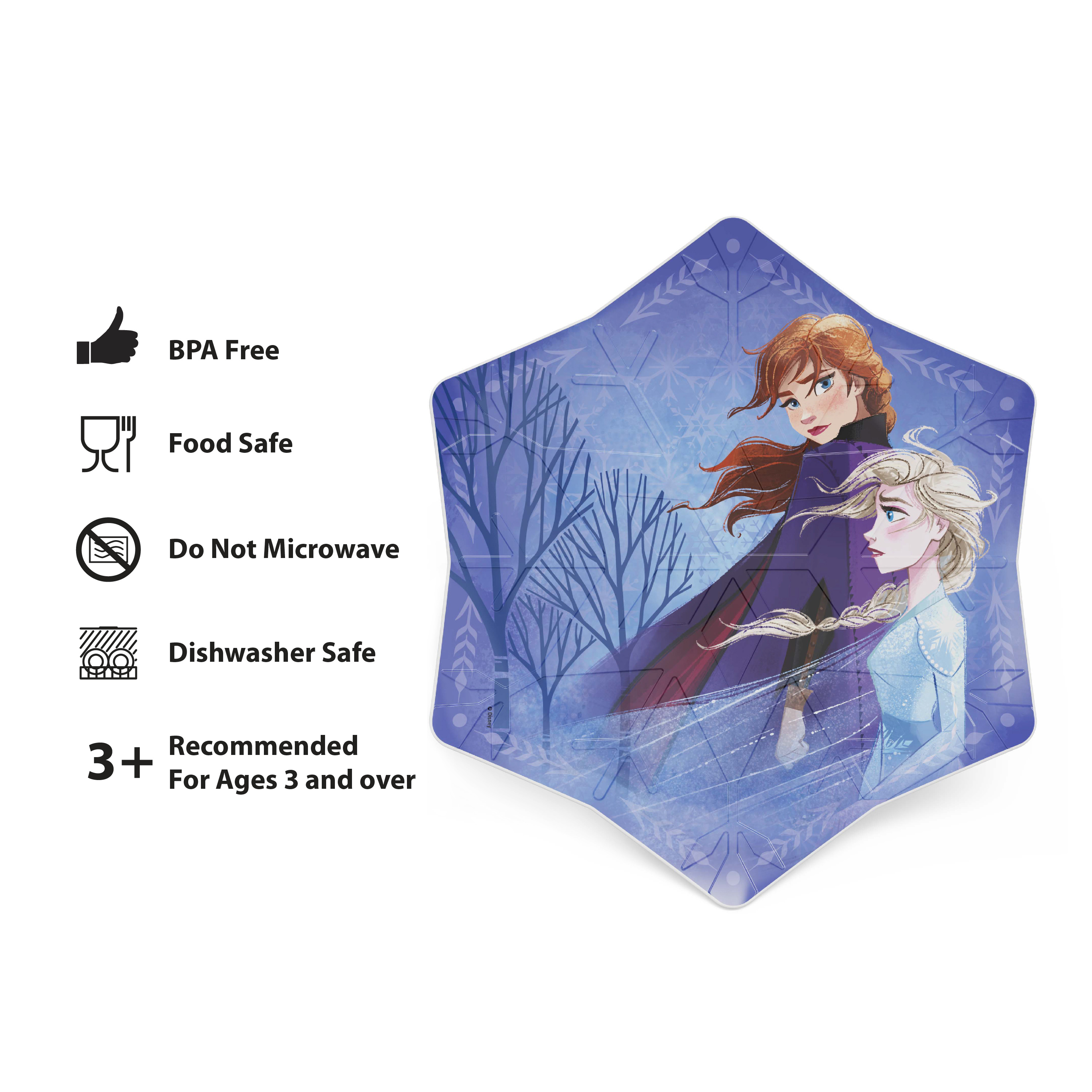 Disney Frozen 2 Movie Kid's Dinnerware Set, Anna and Elsa, 2-piece set slideshow image 5