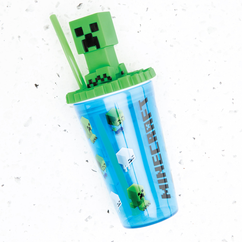 Minecraft 15 ounce Kids Tumbler, Creeper, 3-piece set slideshow image 5