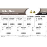 "Compression Cutlery Rivets Assortment (7/32"" Thru 9/16"" Eyelet)"