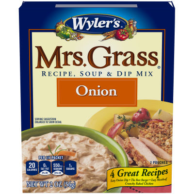 Wyler's Mrs Grass Onion Recipe, Soup & Dip Mix 2 oz Box
