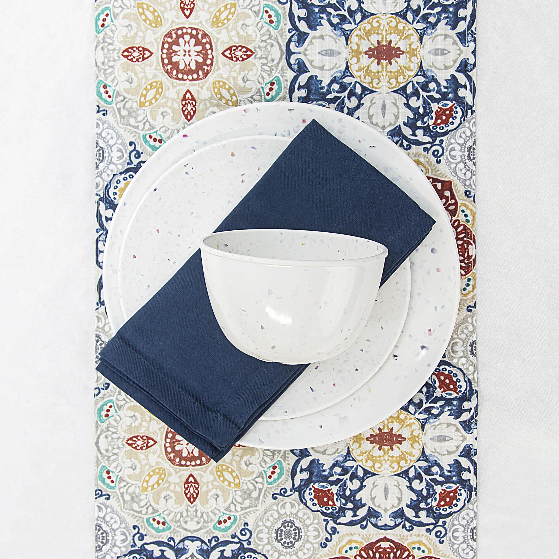 Confetti Dinnerware Set, White, 12-piece set slideshow image 4